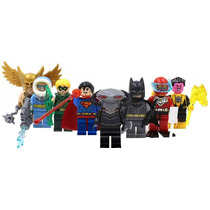 La Liga De La Justicia Heroes Y Villanos Compatible Con Lego