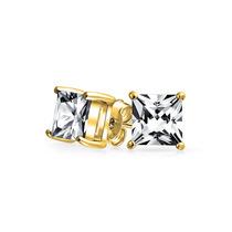 Aretes Bling Jewelry Hombre Plata Chapada En Oro Cz Princesa