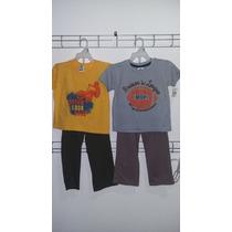Conjunto Niño Playera Manga Larga Y Pantalon Varios Colores