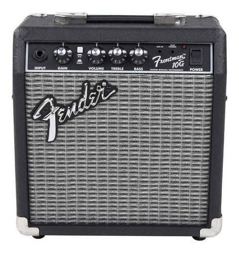 Amplificador Fender Frontman Series 10g Combo Transistor 10w Negro Y Plata 120v