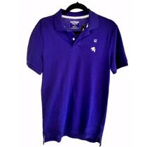 Playera Tipo Polo Caballero Marca Express, Color Morado