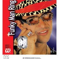 Gángster Traje - Fake Diamond Gem Bling Ring Pimp Fantasía