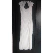 Vestido Fiesta Color Ivory Se Puede Usar P Civil Boda Etc