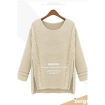 Suku 70976 Blusa Holgada Tejido En Lana Moda Japón $579