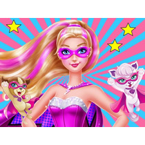 Kit Imprimible Barbie Super Princesa Diseña Tarjeta Cotill#1