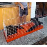 Jaula Extra Grande Conejo O Cuyo 1.50 Metros Base Plástico