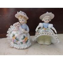 Par De Muñequitas Fabricadas En Porcelana