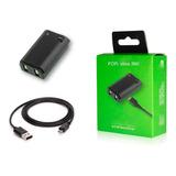 Bateria Recargable Para Control Xbox 360 Litio Con Cable Usb