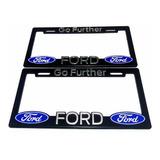 Par (2) Portaplaca Ford Scape Figo Edge Raptor Fiesta Ranger
