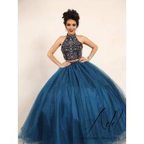 Busca Vestido De Quince Anos Color Negro Con Azul Petroleo