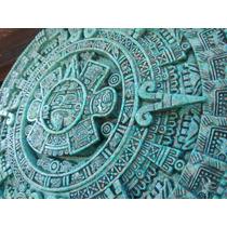 Calendario Azteca Hecho En Piedra De Malaquita En 3 D