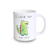 Taza De Cerámica I Love You This Much Mariorigami Divertido