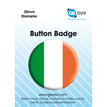 Irlanda Placa - 25mm Bandera Irlandesa Insignias Patriótica