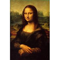 Lienzo, Tela. Leonardo Da Vinci, La Mona Lisa. 80x120 Cm