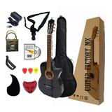 Guitarra Acustica Curva Paquete Esencial Accesorios