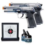 Kit 2 Pistolas Air Soft Beretta 92 Fs Alcampo