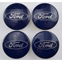 4x Centro Tap?in Para Ford 54mm Azules - Env?Gratis