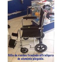 Silla De Ruedas Ultraligera Traslado Aluminio