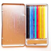Lapices Pastel Stafford Estuche Metalico Con 14 Colores