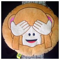 Peluche Cojín Emoji Whatsapp Changuito No Quieo Ver Original