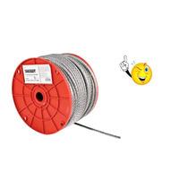 Cable De Acero Sin Forro 3/16 X 75 M Toolcraft