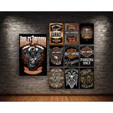 Poster Cartel Metálico Harley Davidson Biker Motos Chopper
