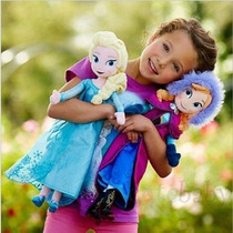 2 Princesas De Peluche Disney Frozen Ana & Elsa