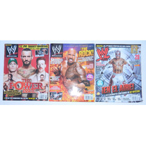 3 Revistas De Lucha Libre Wwe Rey Mysterio The Rock