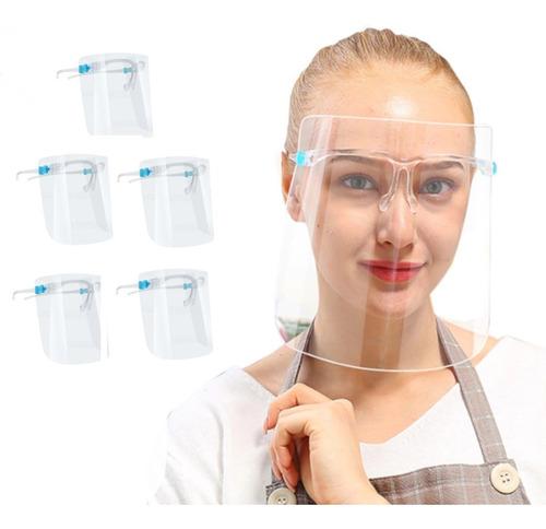 5pz. Caretas Protector Facial Antiempañante Con Lentes
