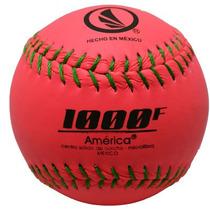 Pelota América 1000 De Softbol Microfibra Fiusha Docena