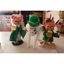 Set Peluches Annalee Thorndike Irish Toys Beer Cerveza Mouse