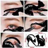 Cat Line Plantilla Delinear Ojo De Gato Párpado Delineado