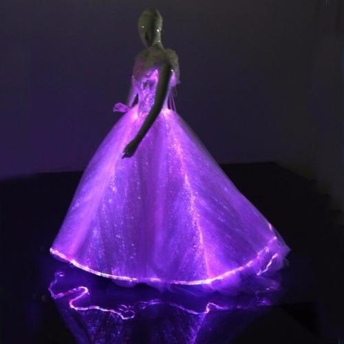 Vestidos Xv Años Quinceaños 15 Años Led Fibra Optica Luz En