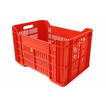 Caja De Plastico Agricola Gde.calada Piso Ref. 52 X 34 X 30