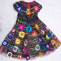 Chiapas Vestido 5 Olanes Sencillo Baile Regionale Tipicos