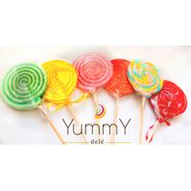 30 Paletas De Caramelo Espiral Colores Dulces Hot Sale !!!