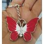 Mariposa Precioso Llavero Metalico Mariposa Roja 1254