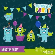 Kit Imprimible Monsters University 3 Imagenes Clipart