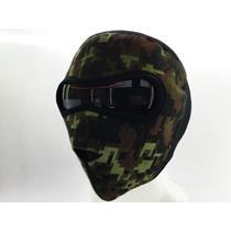 Mascara Neopreno Antifaz Motociclista Verde Pixelado
