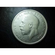 Reino Unido Media Corona 1928 Plata Ley 0.900
