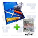Kit De Inyeccion Parchado Para Llantas + 100 Parches Tapón