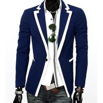 Saco Blazer Hombre Entallado Slim Fit Caballero Elegante