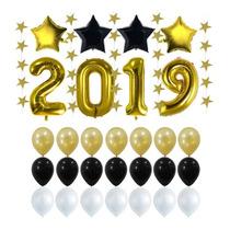 Decoracion Año Nuevo 2019 Globos Elegantes Dorado Graduación