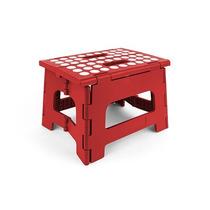 Banco Plegable Rojo Rhino Portatil Practico Resistente Nuevo