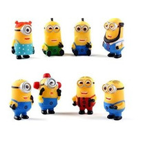 Bossel 8pcs Set Despicable Me 2 Los Minions Papel Figura De