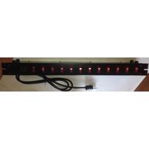 Barra Rack Multicontacto Supresor 12 Entradas