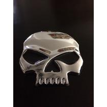 Sticker De Metal 3d De Calavera Harley Davison, Auto, Moto