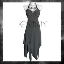 Vestido Eretica Ropa Dark Asimetrico Gotico Metal Glam