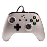 Control Joystick Powera Enhanced Wired Controller Xbox One Brushed Aluminum