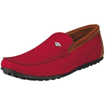 Zapatos Casuales Rooster 510 Rojo Piel Pv